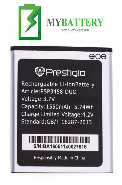 Оригинальный аккумулятор АКБ батарея Prestigio Wize PSP3458 DUO 1550mAh 3.7V