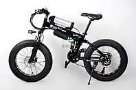 Складной велосипед электрический детский Ultra Bike черный Bmw экотранспорт мощность 250 Вт