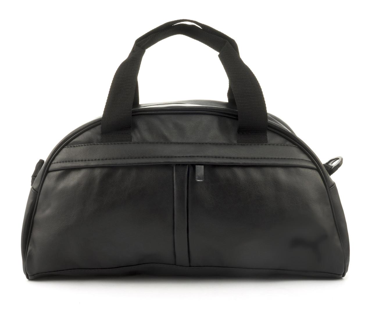 Стильная спортивная вместительная сумка art. 128 (102781) черная эко кожа