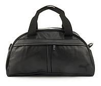 Стильная спортивная вместительная сумка art. 128 (102781) черная эко кожа, фото 1