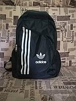 Рюкзак молодежный городской Adidas (Адидас) черного цвета