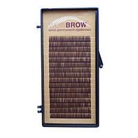 Искусственные волоски темно-коричневые для бровей WowBrow