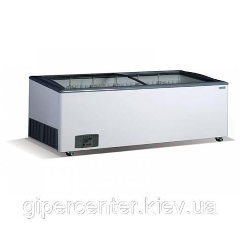 Морозильный ларь гнутое стекло Crystal VENUS SGL 56 (6 корзин), фото 2
