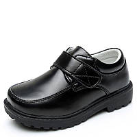 Туфли школьные для мальчика, черные, кожа, размер 31-34, ТШ 009 32(20,3см)