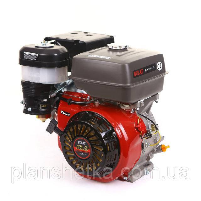 Двигатель бензиновый Bulat BW190F-S 16 л.с., шпонка