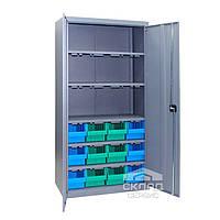 Металлический метизный шкаф ЯШМ-18 (с кюветами  700+3 доп.полки) 1800х900х390 мм