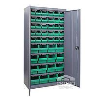 Металлический метизный шкаф ЯШМ-18 (с кюветами  700 и 701) 1800х900х390 мм