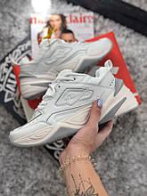Размер только  36 !!!!Женские кроссовки Nike MK2 Tekno White/Grey /найк / реплика (1:1 к оригиналу)