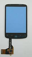 Сенсорный экран HTC Wildfire (A3333) черный с микросхемой на шлейфе, фото 1
