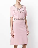 Платье в стиле Gucci с бантиком персиковое, фото 1