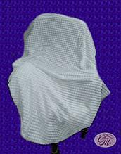 """Плед-покривало з бамбукового волокна """"Koloco"""" Пірамідка біла (200х230см)"""