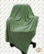 """Плед-покривало з бамбукового волокна """"Shang Hay Кубики оливкові (200х230см)"""