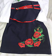 Красивая юбка с вышивкой для девочки, 122-146 см., 260/230 (цена за 1 шт. + 30 гр.)