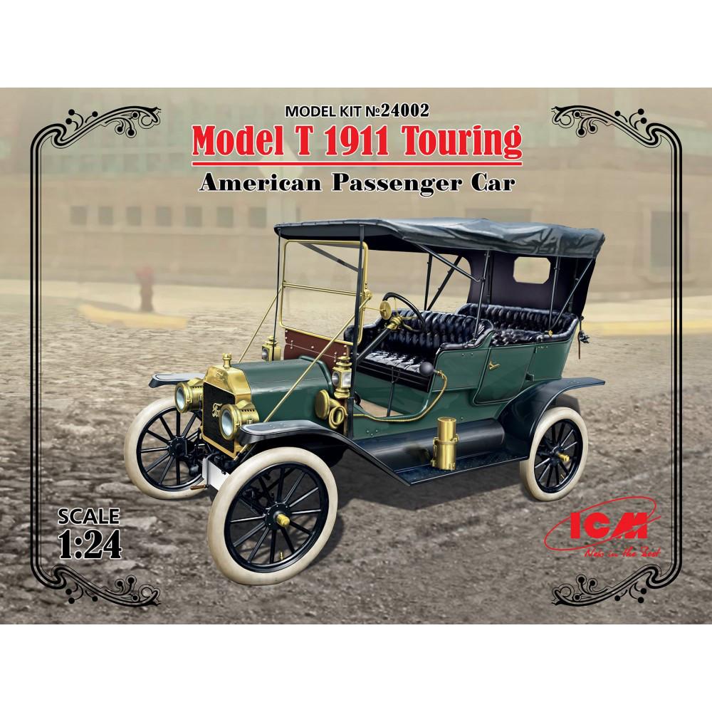 MODEL T 1911 TOURING, американский пассажирский автомобиль. 1/24 ICM 24002