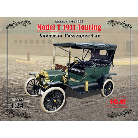 MODEL T 1911 TOURING, американский пассажирский автомобиль. 1/24 ICM 24002, фото 2