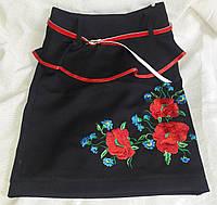 Национальная юбка с вышивкой для девочки, рост 122-146 см., 260/230 (цена за 1 шт. + 30 гр.), фото 1