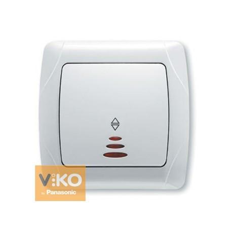 VIKO CARMEN Выключатель проходной с подсветкой б/с Белый