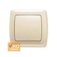 VIKO CARMEN Выключатель 1-й одноклавишный Крем