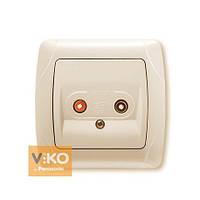 VIKO CARMEN Аудиорозетка для динамиков Крем