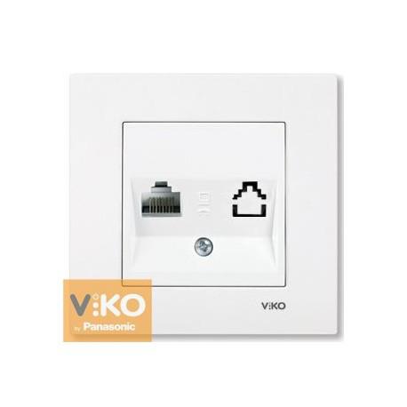 VIKO KARRE Розетка компьютерная одинарная (RJ45 Cat 5e) Белая