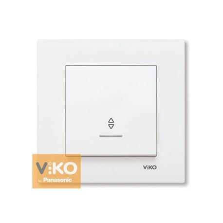VIKO KARRE Выключатель проходной с подсветкой б/с Белый