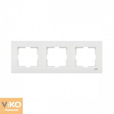 VIKO KARRE Рамка тройная горизонтальная Белая