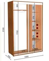 Шкафы-купе               высота 2100,             глубина 600, ширина на выбор