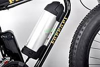 Экологичный электронный велосипед для детей брендовый Ultra Bike Ferrari с мотором 1000 ВТ Черный