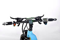 Экологичный электронный велосипед для детей брендовый Ultra Bike Ferrari с мотором 1000 ВТ Голубой