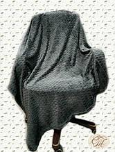 """Плед-покривало з бамбукового волокна """"Shang Hay Кубики графіт (200х230см)"""