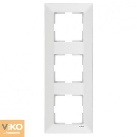 VIKO MERIDIAN Рамка тройная вертикальная Белая