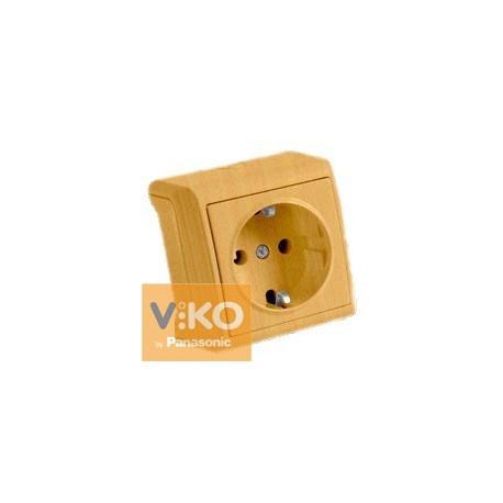 VIKO VERA Накладная Розетка 1-я с крышкой Дуб, цена 87,78 грн ... 9866407de1b