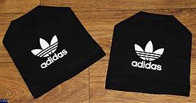 Шапка детская тонкая Adidas 3 цвета ткань трикотаж двух нить