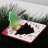 Складной карманный рождественский, новогодний фонарик