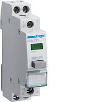 Выключатель кнопочный с зелёным индикатором Hager SVN433, 16А, 230В