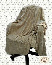 """Плед-покривало з бамбукового волокна """"Shang Hay Кубики беж (200х230см)"""