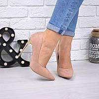 Туфли женские на шпильке Fancy  пудра 5341, женская обувь, фото 1