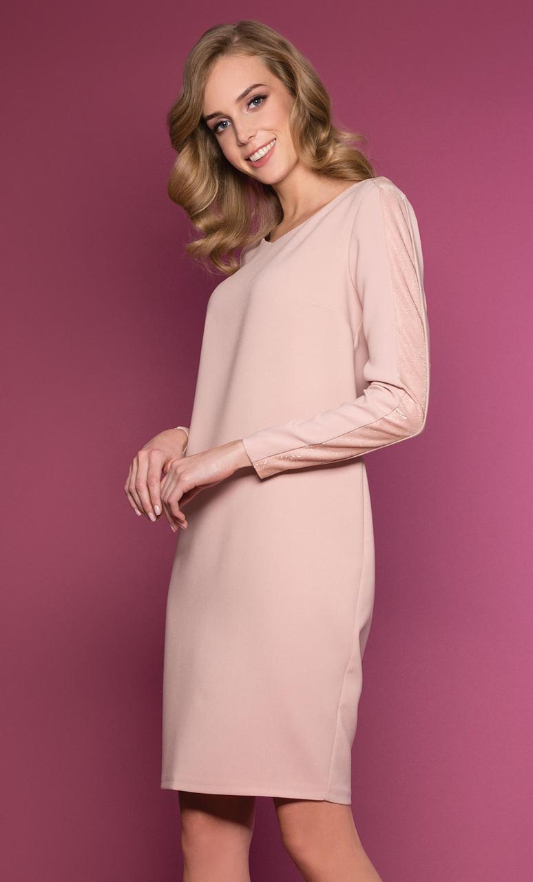 Женское платье Mercy Zaps розового цвета. Коллекция осень-зима