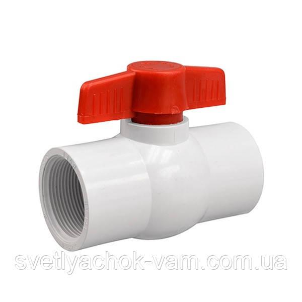 Кран PF-0125 шаровый с внутренней резьбой 3/4 дюйма для построения систем полива и водоснабжения