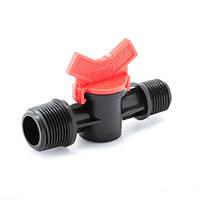 Кран шаровый Presto-PS с наружной резьбой 1/2 и 3/4 дюйма (MM-011234) для систем полива и водоснабжения