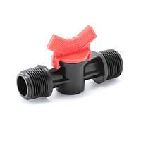 Кран шаровый Presto-PS с наружной резьбой 3/4 дюйма (MM-0134) для систем полива и водоснабжения