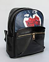 Женский рюкзак из кожзама - Розы