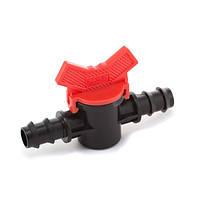 Кран шаровый проходной Presto-PS для трубки 16 мм (MV-0116) при создании систем капельного полива