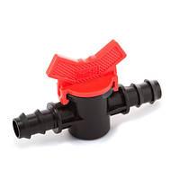 Кран шаровый проходной для трубки 16 и 20 мм (MV-012016) создании комбинированных систем капельного полива