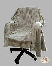 "Плед-покривало з бамбукового волокна ""Shang Hay Смужка кавова (200х230см)"
