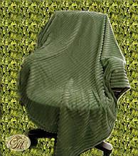 "Плед-покривало з бамбукового волокна ""Shang Hay Смужка оливкова (200х230см)"