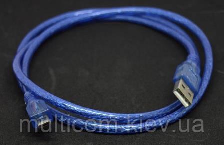 05-09-091. Шнур USB штекер А - штекер micro USB, прозорий, 1м
