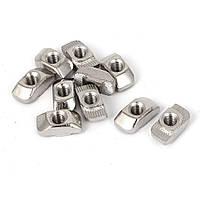 10x Гайка Т-образная M5 для 6мм паза алюминиевого профиля 20 серии | код: 10.00695