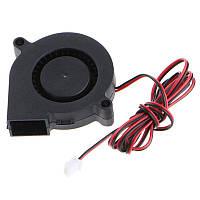 Вентилятор радиальный улитка 50 мм 12 в 0.1 А 2 pin турбина | код: 10.04424