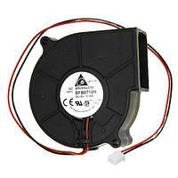Вентилятор радиальный улитка 75 мм 12 в 0.36 А 2 pin турбина | код: 10.04425